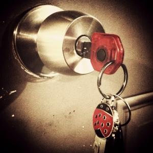 Keys-ladybug-knob-lock